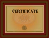 Rojo del marco del certificado Fotos de archivo