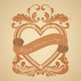 Rojo del marco del grunge del día de tarjeta del día de San Valentín Foto de archivo libre de regalías