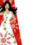Rojo del modelo de manera de la alineada del invierno Fotografía de archivo libre de regalías