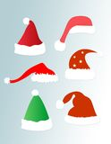 Rojo del sombrero de la Navidad/del sombrero de santa Imagenes de archivo