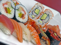 Rojo del sushi Foto de archivo