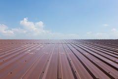 Rojo del tejado imagen de archivo