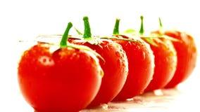 Rojo del tomate en un fondo blanco metrajes