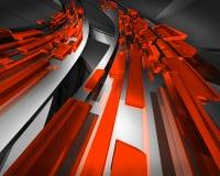 Rojo del tráfico de información Imagen de archivo libre de regalías