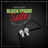 Rojo del verde de la disposición del márketing de la venta de Black Friday Fotografía de archivo libre de regalías