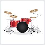 Rojo determinado del tambor del ejemplo del vector Foto de archivo