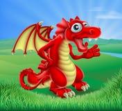 Rojo Dragon Scene de la historieta Imagenes de archivo