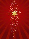 Rojo e ilustración de la estrella del oro Imagen de archivo libre de regalías