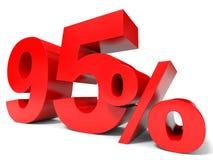 Rojo el noventa y cinco por ciento apagado Descuento el 95% Foto de archivo libre de regalías
