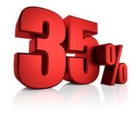 Rojo el 35 por ciento Foto de archivo libre de regalías