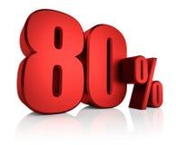 Rojo el 80 por ciento Foto de archivo libre de regalías