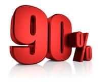 Rojo el 90 por ciento Fotografía de archivo libre de regalías