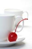 Rojo en blanco Imagenes de archivo