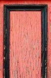 Rojo enmarcado Foto de archivo libre de regalías