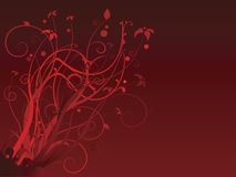 Rojo floral Libre Illustration