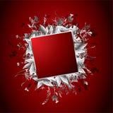 Rojo floral de la bandera