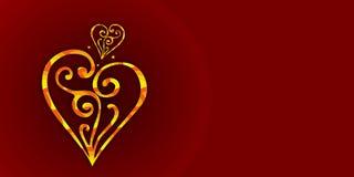 Rojo, fondo del color de Borgoña con los corazones Un fondo real del color de Borgoña con los corazones del oro de la joyería ilustración del vector