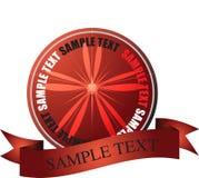 Rojo LISO de la insignia ilustración del vector