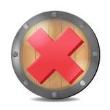 Rojo Mark Symbol Vector del control del escudo Foto de archivo libre de regalías