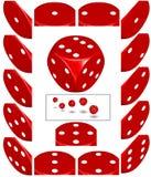 Rojo muera stock de ilustración