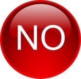 Rojo ningún botón Imágenes de archivo libres de regalías