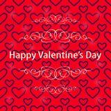Rojo oscuro Valentine Background del corazón Fotos de archivo libres de regalías