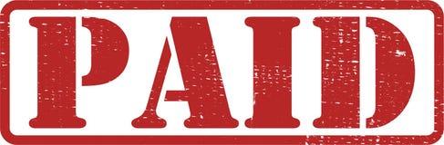 Rojo PAGADO del sello imagen de archivo