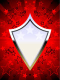 Rojo patriótico del blindaje del cromo Foto de archivo libre de regalías