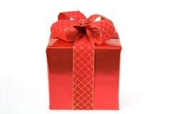 Rojo presente Fotos de archivo libres de regalías