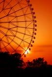 Rojo romántico de la rueda Foto de archivo libre de regalías