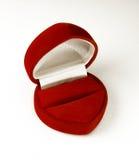 Rojo, terciopelo, rectángulo de regalo. Fotos de archivo libres de regalías