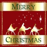 Rojo Wisemen de la Feliz Navidad Foto de archivo