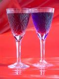 Rojo y azul Imagen de archivo