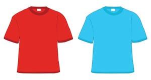 Rojo y azul de la camiseta ilustración del vector