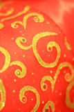 Rojo y backgound de la Navidad del oro Fotografía de archivo