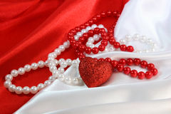 Rojo y blanco Imagen de archivo libre de regalías