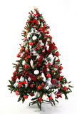 Rojo y blanco del árbol de navidad Fotografía de archivo libre de regalías