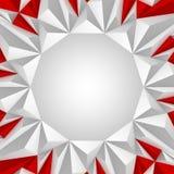 Rojo y blanco del fondo del triángulo Imágenes de archivo libres de regalías