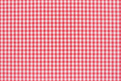 Rojo y blanco del mantel Fotos de archivo