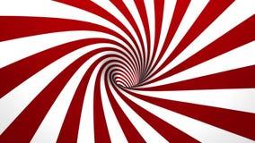Rojo y blanco hipnóticos del espiral 4K 50fps stock de ilustración