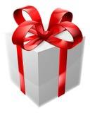 Rojo y blanco presentes Foto de archivo libre de regalías