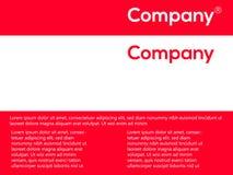 Rojo y blanco sobre diseño Cubierta para los requisitos de la compañía Ejemplo del vector, folleto, cartel ilustración del vector