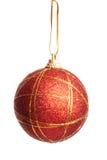 Rojo y bola de la Navidad del oro Imágenes de archivo libres de regalías