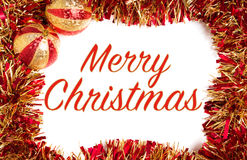 Rojo y decoraciones de la Navidad del oro Imagenes de archivo