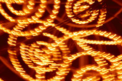 Rojo y fondo coloreado amarillo de las luces Contexto abstracto Foto de archivo