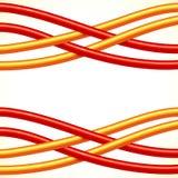 Rojo y fondo cruzado naranja del vector de los cables Fotos de archivo libres de regalías