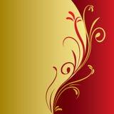 Fondo floral del oro Fotos de archivo