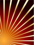 Rojo y fondo del extracto del vector del oro Stock de ilustración