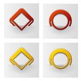 Rojo y marcos asociados amarillo Fotografía de archivo