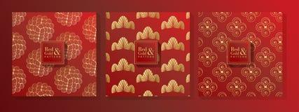 Rojo y modelo del oro imagen de archivo libre de regalías